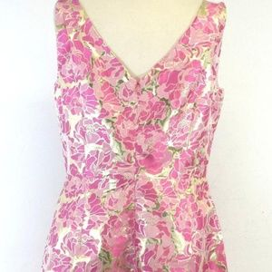 Lilly Pulitzer Dresses - Lilly Pulitzer Pink and Gold Sheath Dress